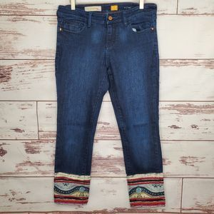 Embellished Cuff Cropped Jean Anthropologie Pilcro
